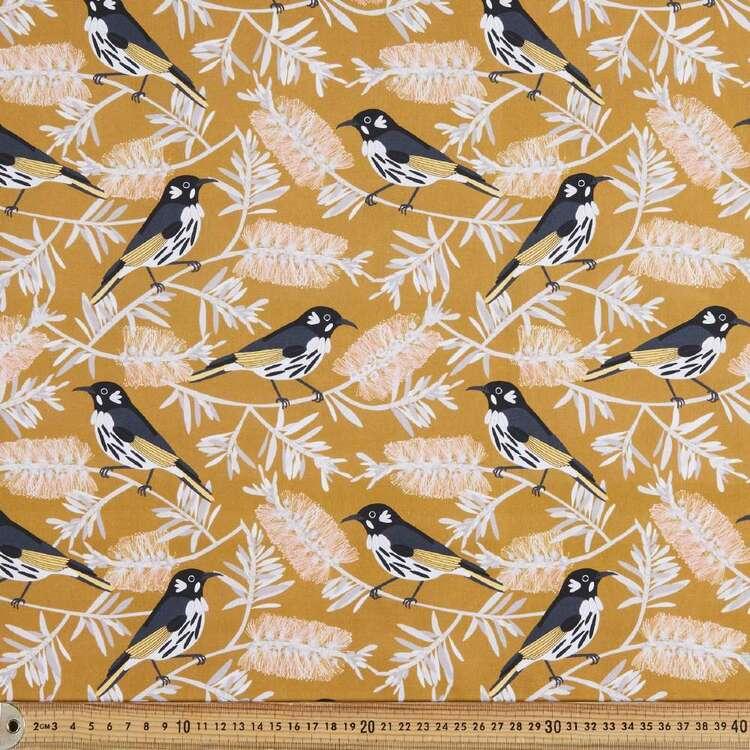 Jocelyn Proust Digital New Holland Honeyeater Cotton Fabric