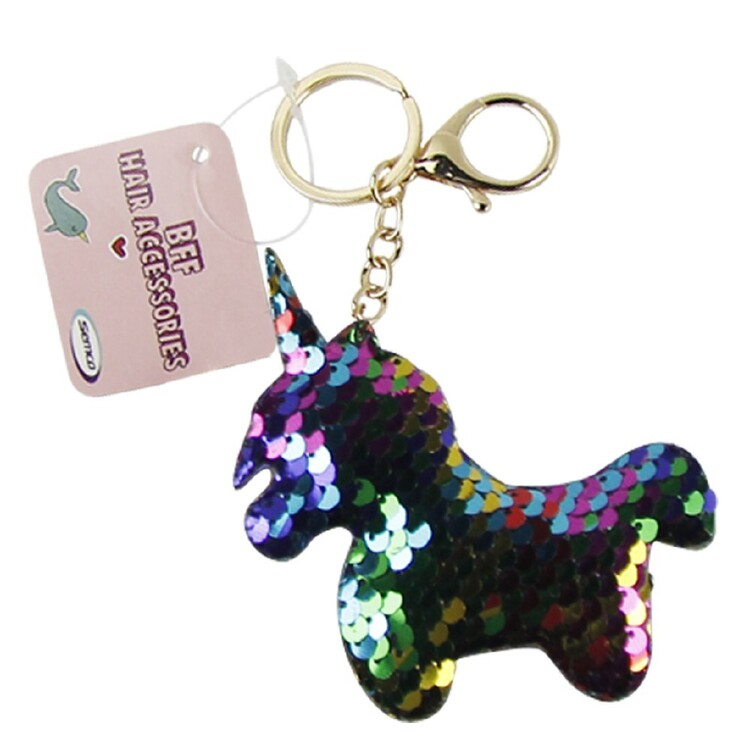Sequin Unicorn Keychain
