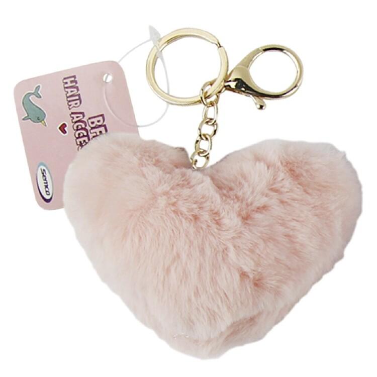 Heart Shape Pom Pom Keychain