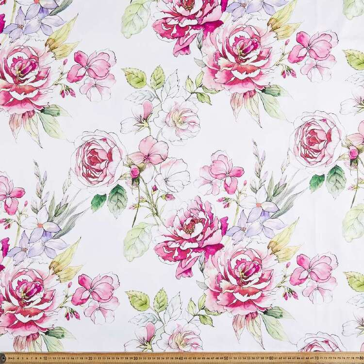 Rosy & Friends Digital Printed 127 cm Sateen Fabric