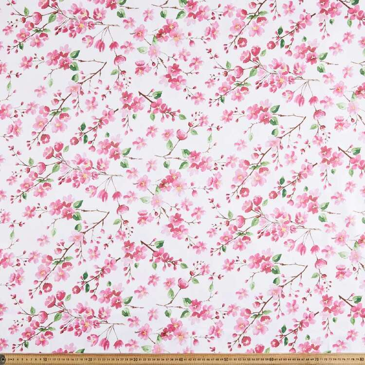 Bright Blossom Digital Printed 127 cm Sateen Fabric