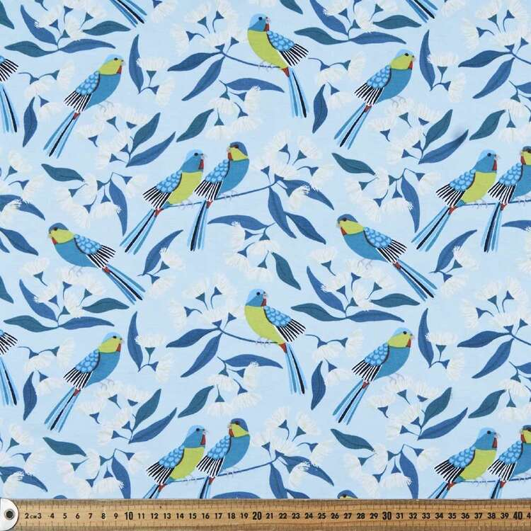 Jocelyn Proust Swift Parrot Printed 112 cm Organic Cotton Jersey