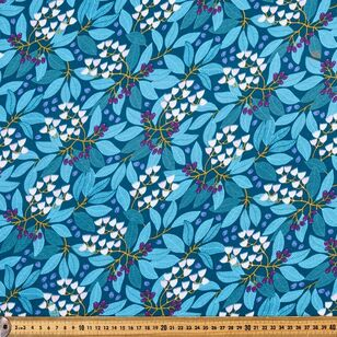 Jocelyn Proust Blueberry Ash Printed 112 cm Organic Cotton Jersey