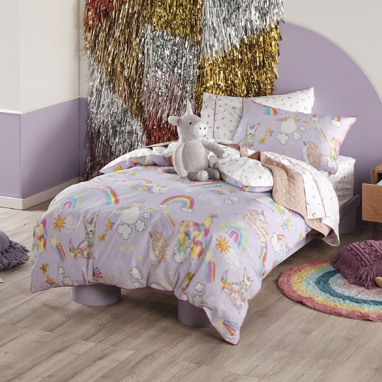 Hiccups Unicorniverse Quilt Cover Set