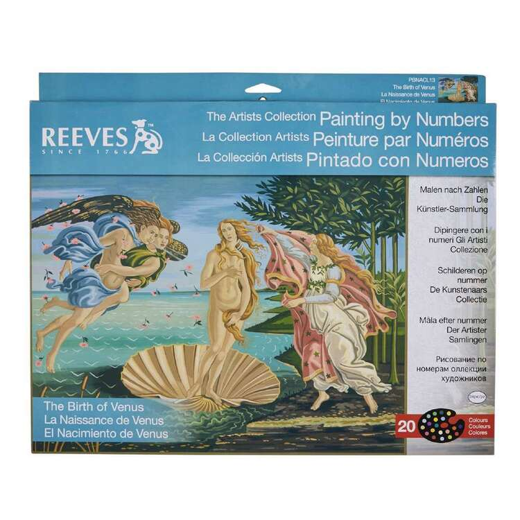 Reeves Large Paint by Numbers Birth of Venus