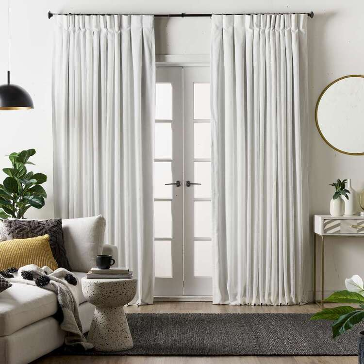 KOO Elite Ibiza Blockout Reverse Pleat Curtains