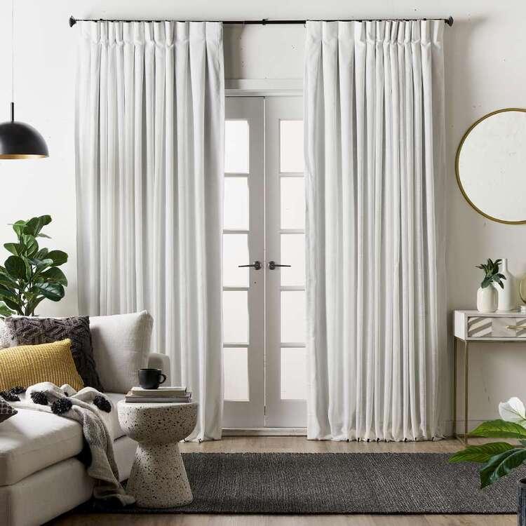 KOO Elite Ibiza Blockout Reverse Pleat Curtains