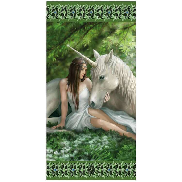 Anne Stokes Pure Heart Beach Towel