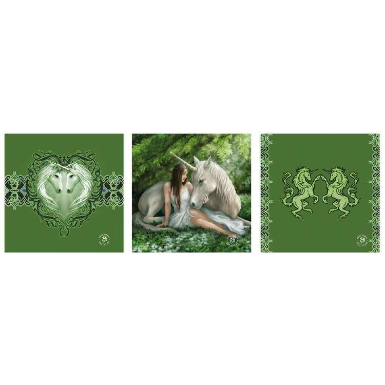Anne Stokes Pure Heart 3 Pack Wall Canvas
