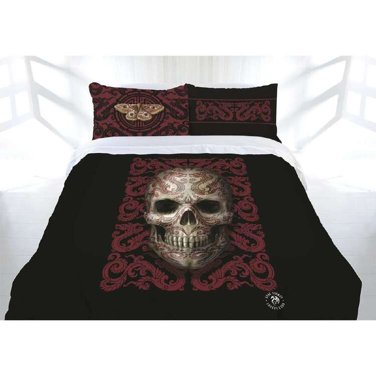 Anne Stokes Oriental Skull Quilt Cover Set
