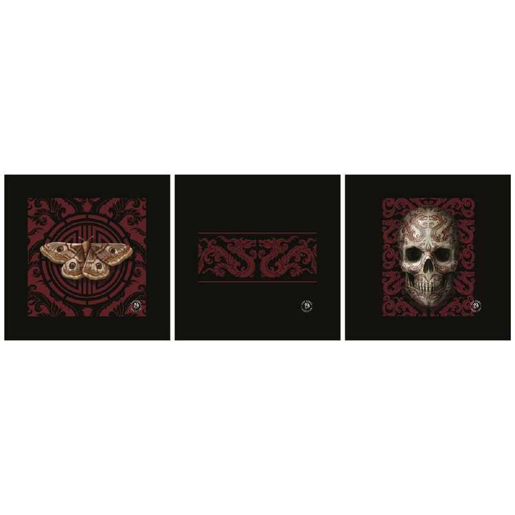 Anne Stokes Oriental Skull 3 Pack Canvas