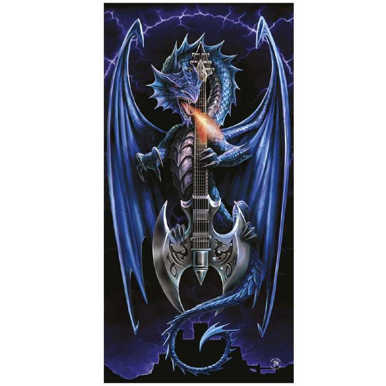 Anne Stokes Powerchord Beach Towel