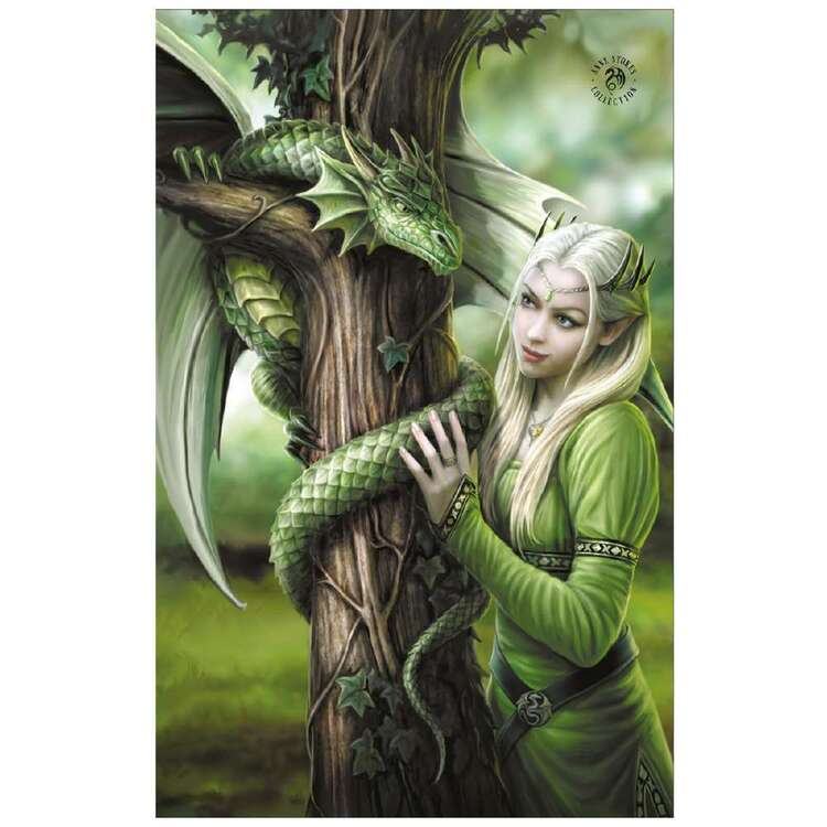 Anne Stokes Kindred Spirits Beach Towel