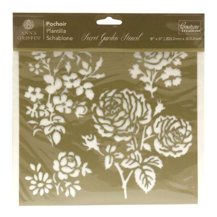 Couture Creations Anna Griffin Secret Garden Damask Stencil