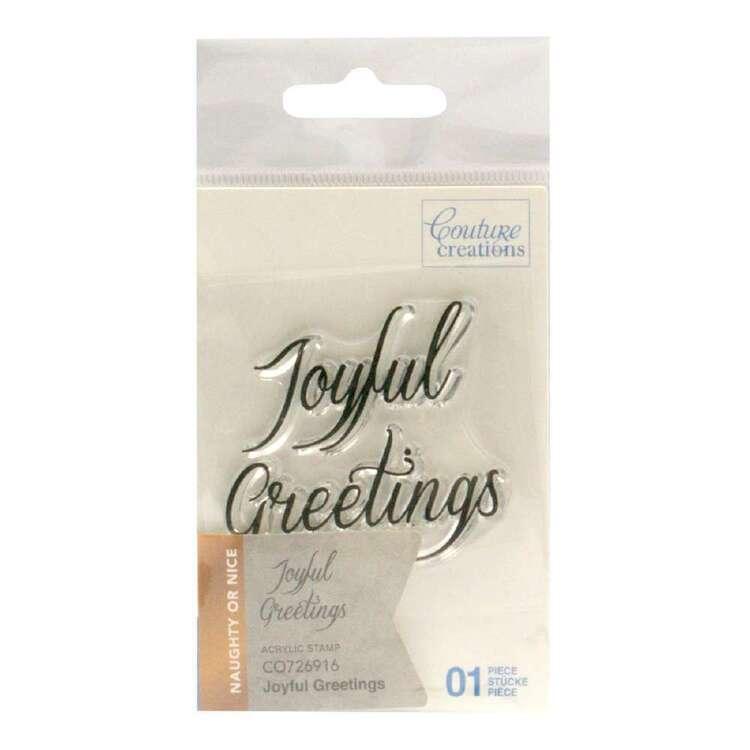 Couture Creations Mini Stamp- Joyful Greeting