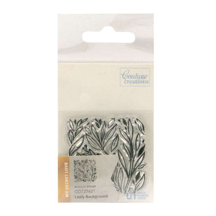 Couture Creations Mini Stamp - Leafy Background