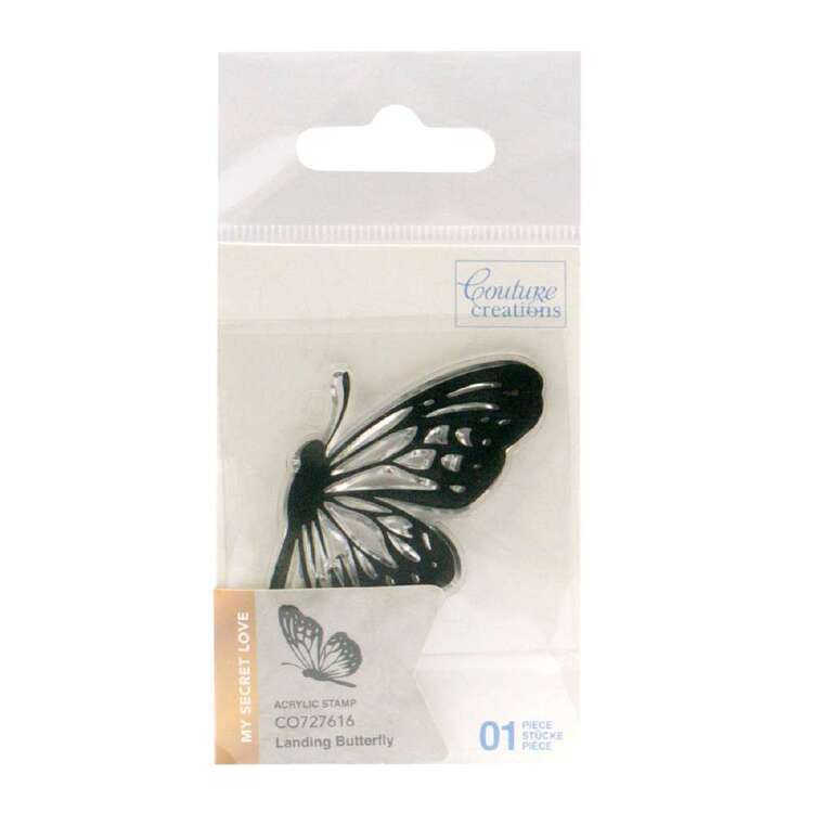 Couture Creations Mini Stamp - Landing Butterfly