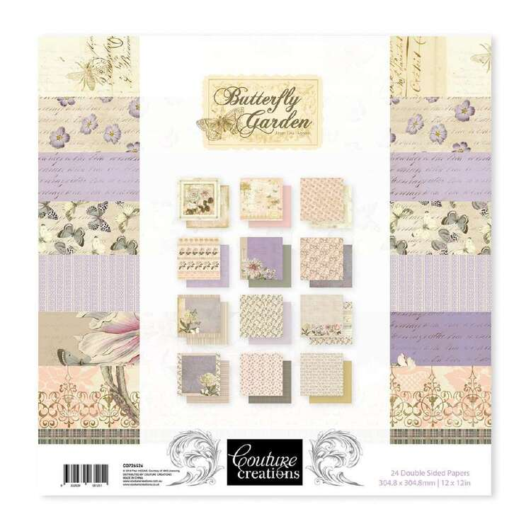 Couture Creations Butterfly Garden Paper Pad