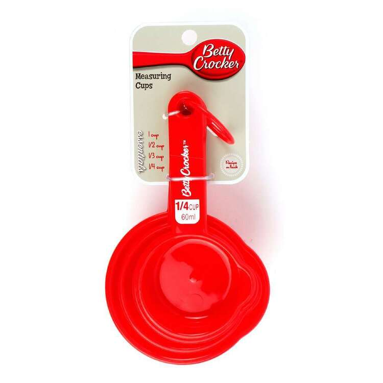 Betty Crocker Measure Cup 4 Pack