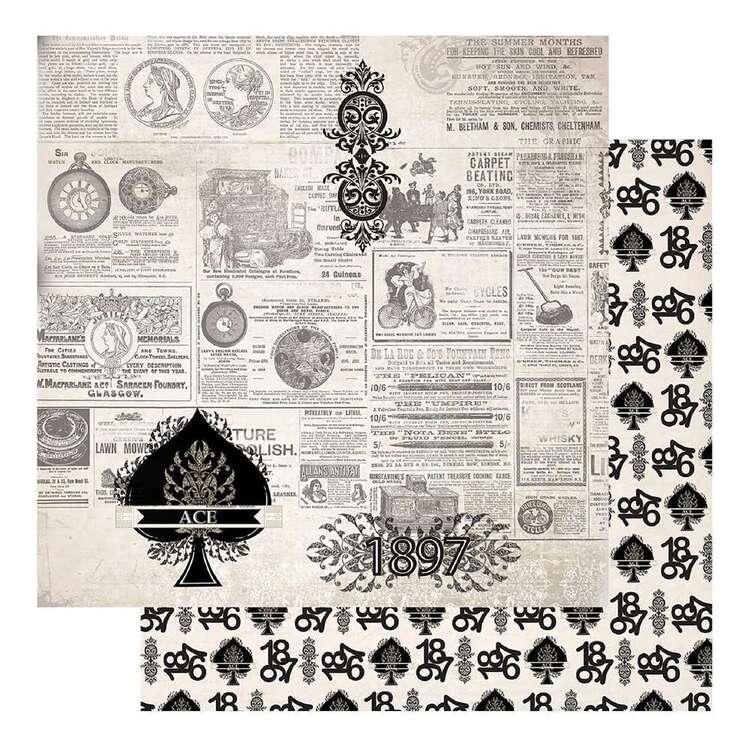 Couture Creations Gents Emporium #6 Loose Printed Paper