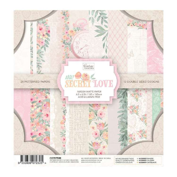 Couture Creations My Secret Love Paper Pad