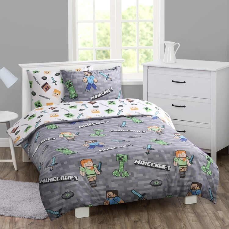 Minecraft Quilt Cover Set