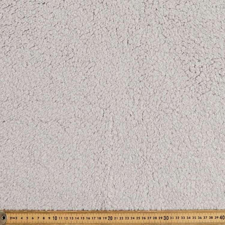 Plain 148 cm Glitter Poodle Faux Fur Fabric