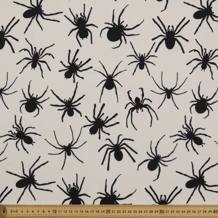 Party Play Spider Printed 148 cm Polyester Fabric