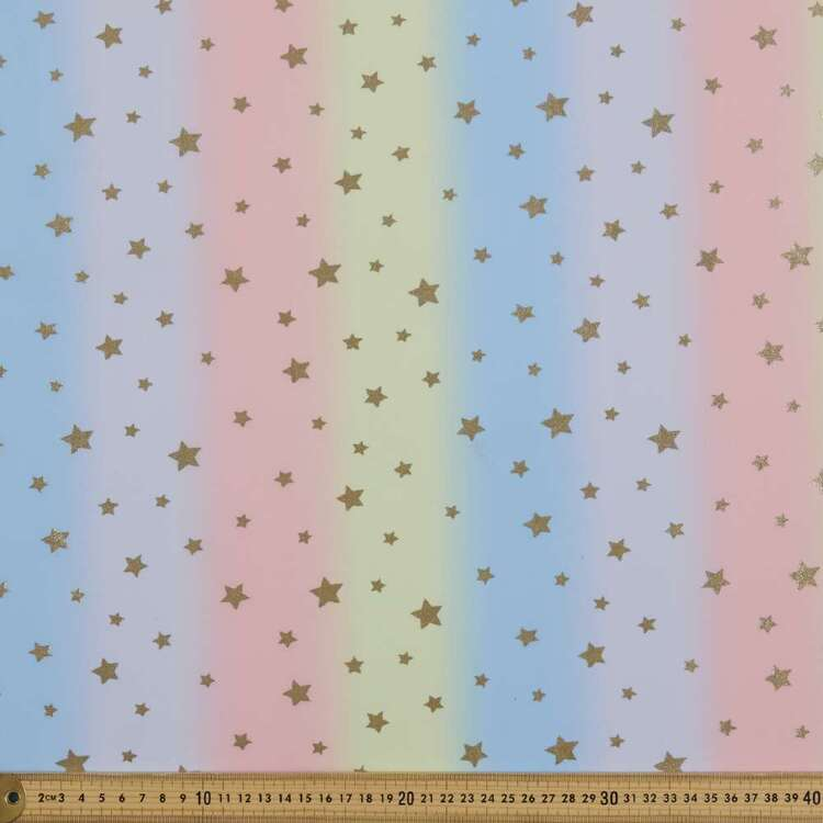 Pastel Star Printed 148 cm Scale Dance Knit Fabric