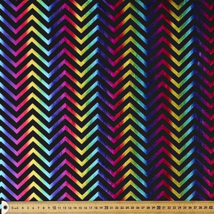 Zig Zag Scale Printed 148 cm Dance Knit Fabric