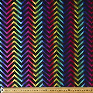Zig Zag Scale Printed 148 cm Dance Knit Fabric