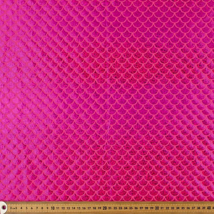 Hot Pink Scale Printed 148 cm Dance Knit Fabric