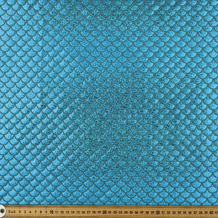 Mermaid Scale Printed 148 cm Dance Knit Fabric