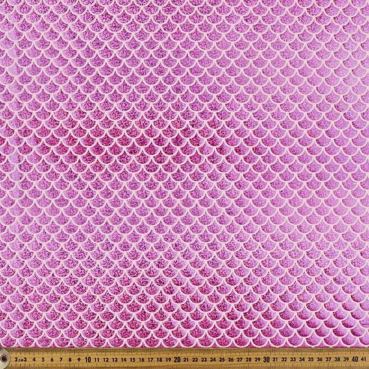 Candy Pink Scale Printed 148 cm Dance Knit Fabric