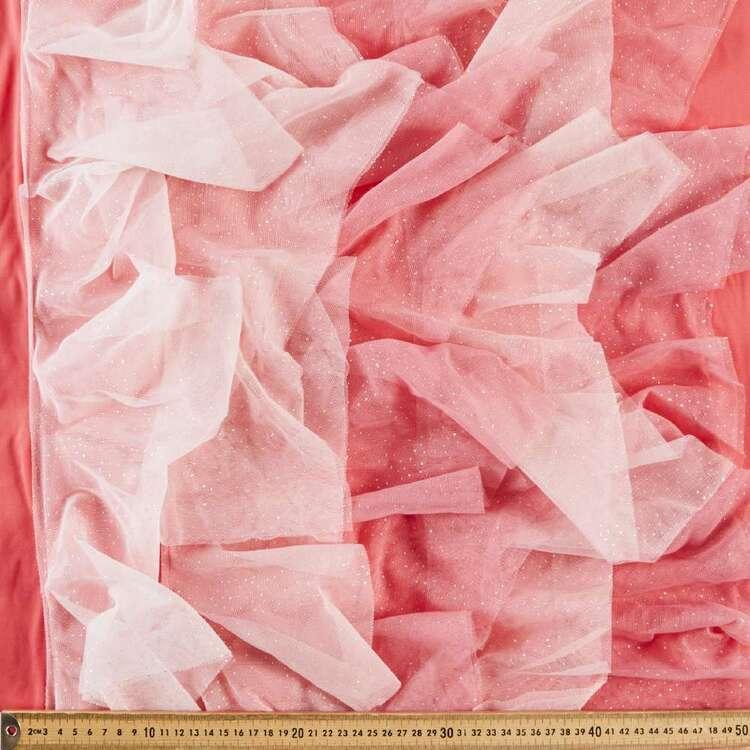Plain 65 cm Ombre Ruffle Tulle Fabric