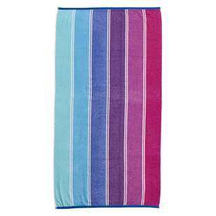 Logan & Mason Porto Wet Wild Stripe Velvet Beach Towel