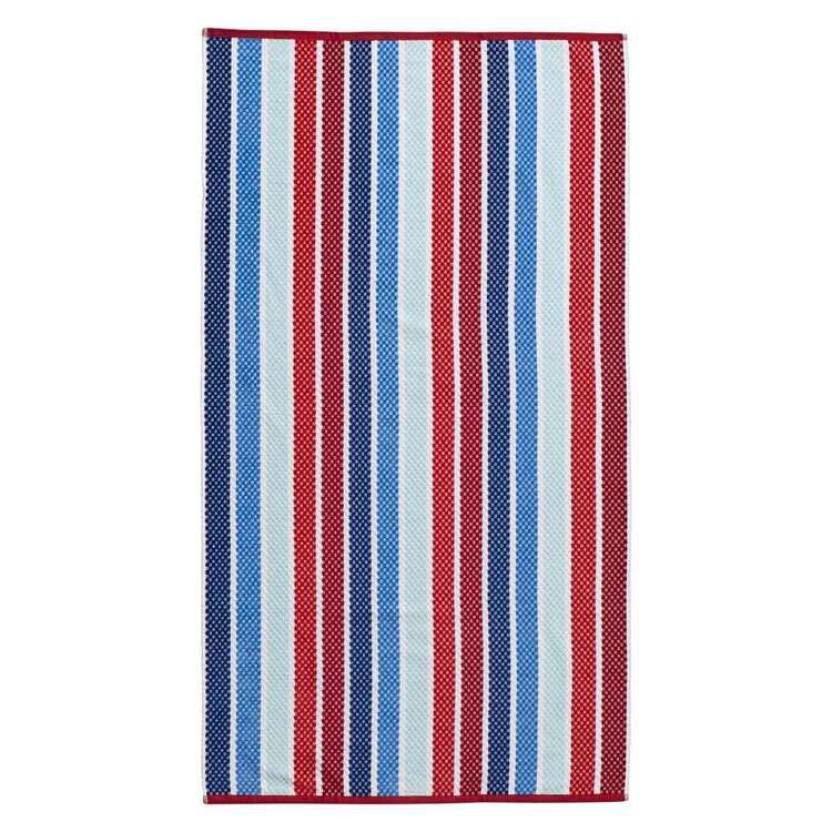 Logan & Mason Nice Wet Wild Stripe Velvet Beach Towel