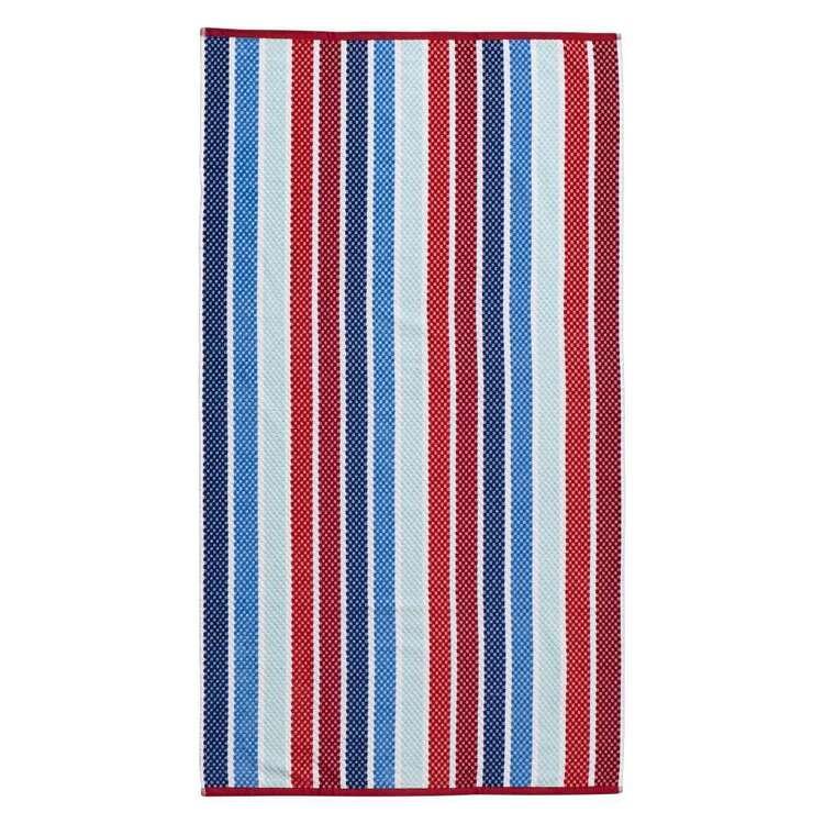 Logan & Mason Nice Wet Wild Stripe Velvet Beach Towel