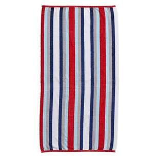 Logan & Mason Cornwall Wet Wild Stripe Velvet Beach Towel