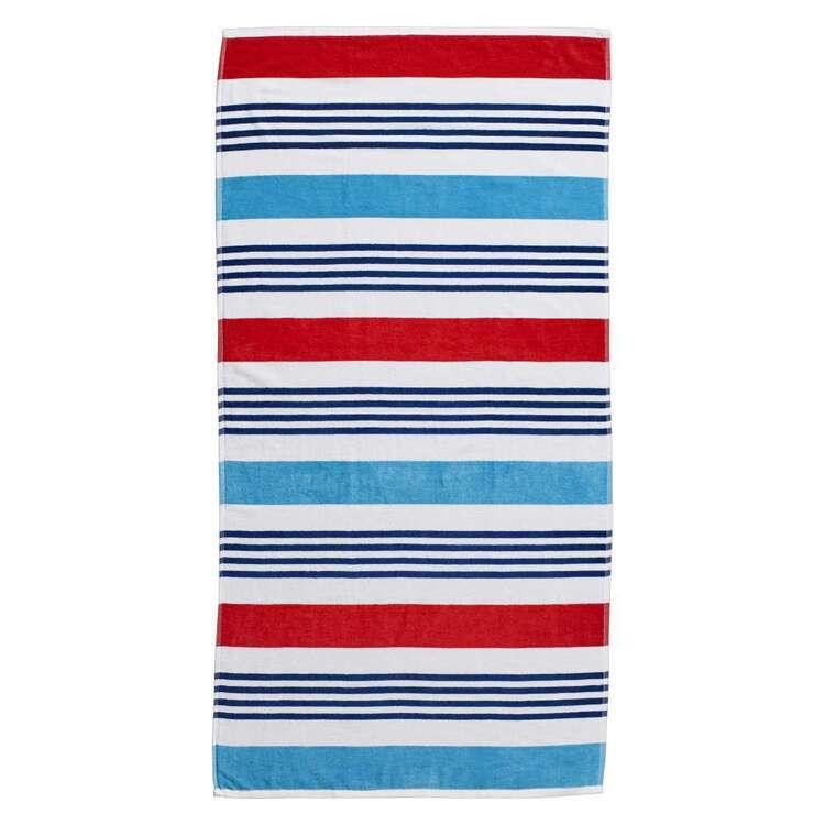 Logan & Mason Ibiza Wet Wild Stripe Velvet Beach Towel