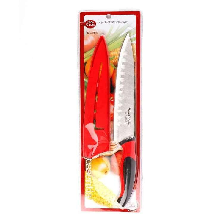 Betty Crocker Large 32 cm Chef Knife With Cover