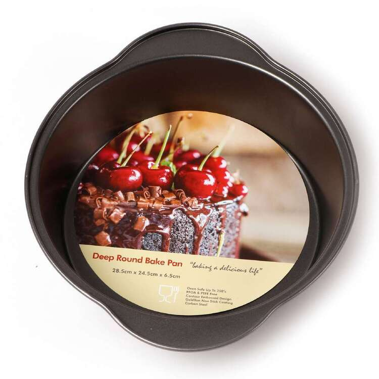 Tin Bakeware Deep Round Bake Pan