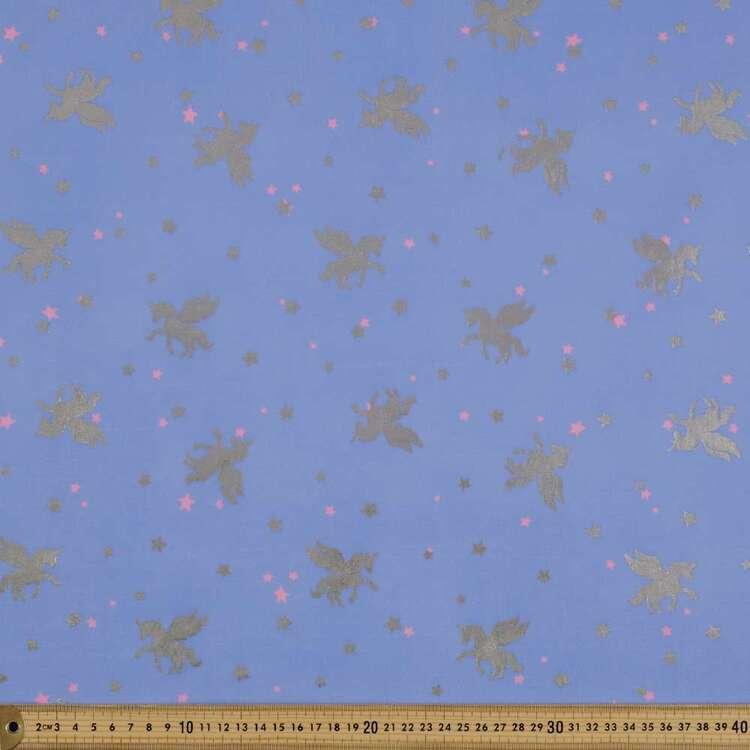 Unicorn Printed 148 cm Scale Dance Knit Fabric