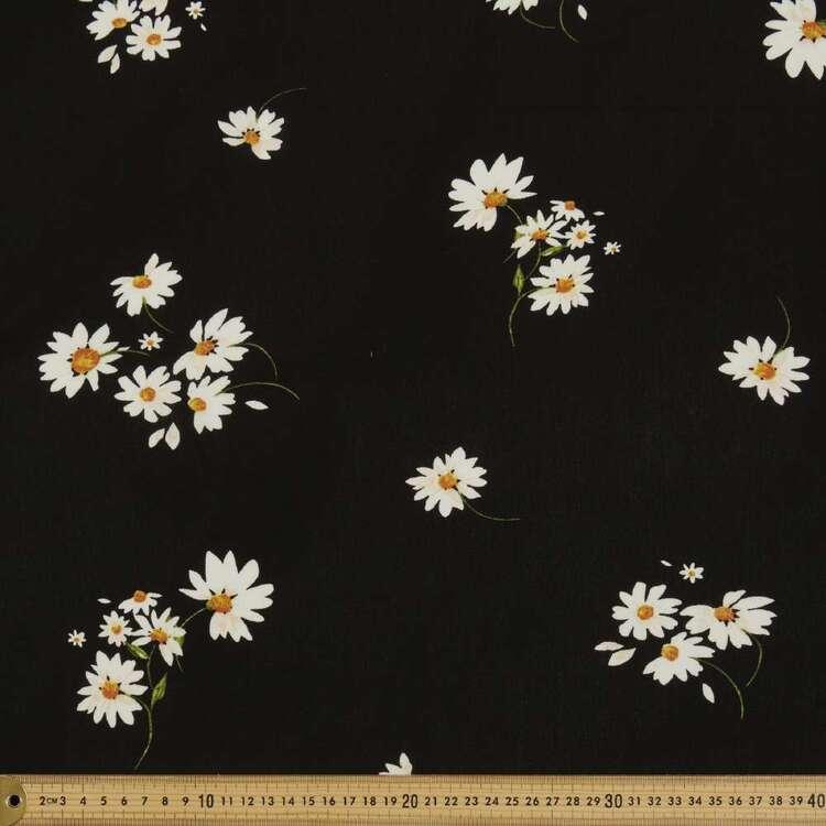 New Daisy Printed 125 cm Rayon Crepe Fabric