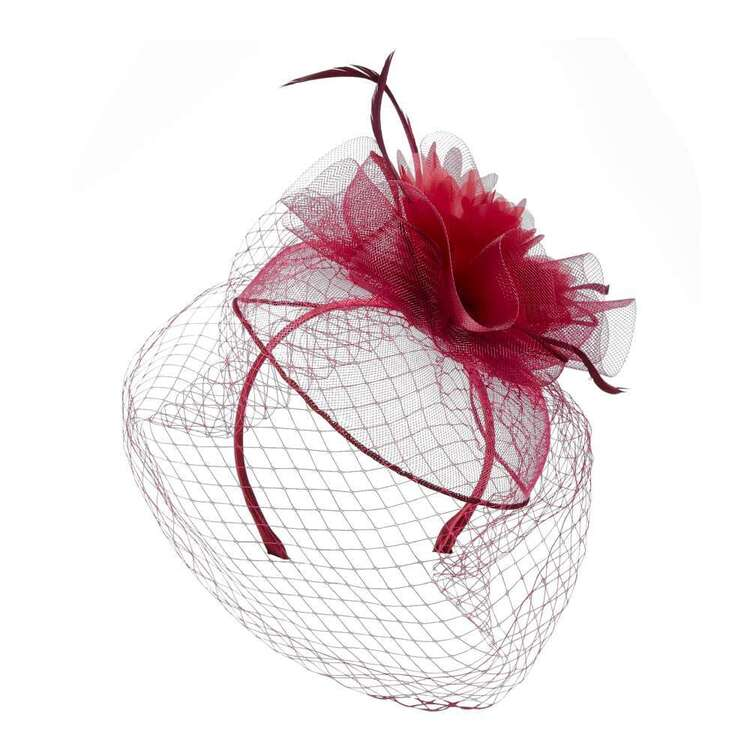 Maria George Rose Crinoline Fascinator With Flocking