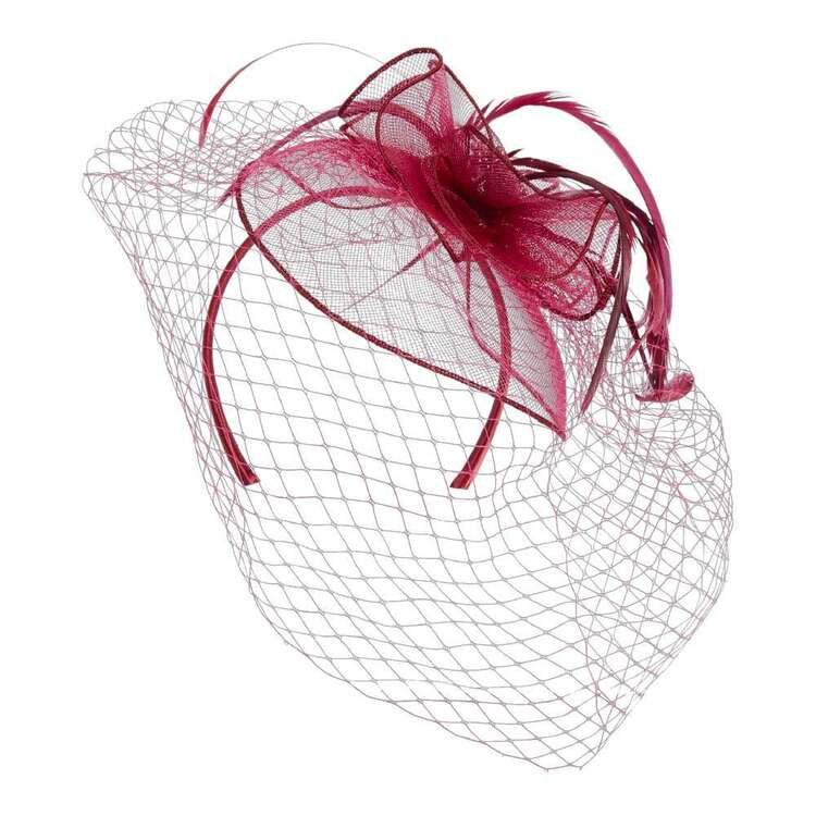 Maria George Crinoline Looped Headpiece With Veiling