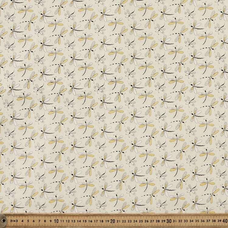 Sparkle Dragonfly Printed 112 cm Cotton Poplin Fabric