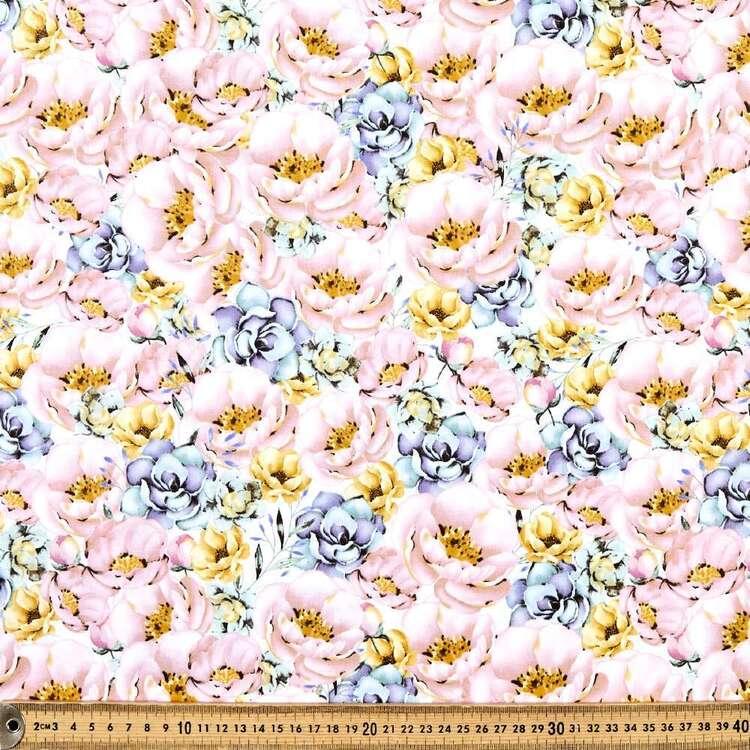 Peony Princess Large Peonies Cotton Fabric