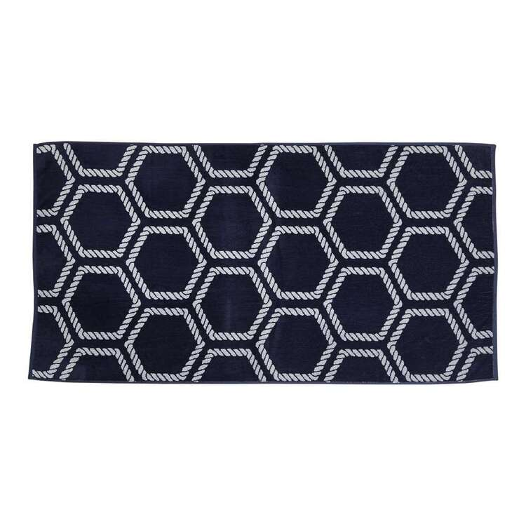KOO Elite Sailor Rope Beach Towel Navy