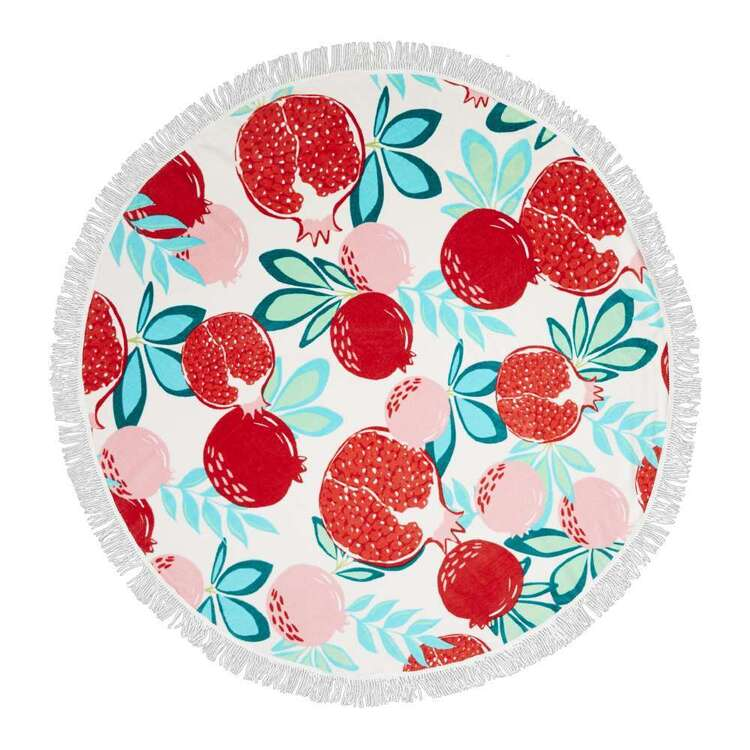 KOO Elite Pomegranate Round Beach Towel